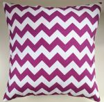 "Cushion Cover in Riley Blake Chevron Deep Purple White Stripe 14"" 16"" 18"" 20"""